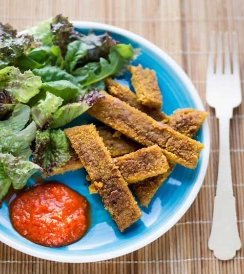 Cotoletta di lupini con crema di peperoni – Ricetta Vegana