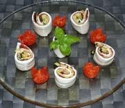 Girelle di mozzarella con bresaola e zucchine