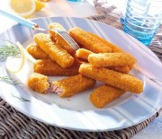 Bastoncini di salmone al forno