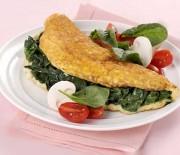 Omelette spinaci e parmigiano